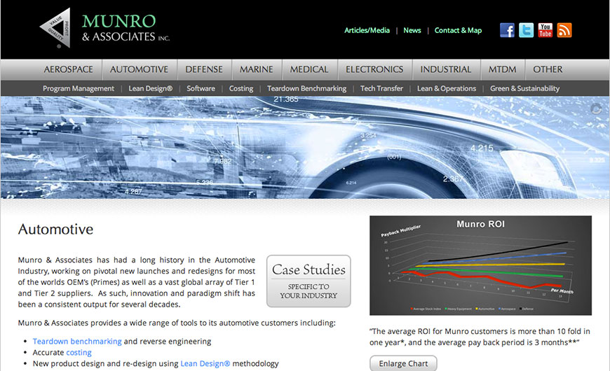 Munro & Associates, Inc. site