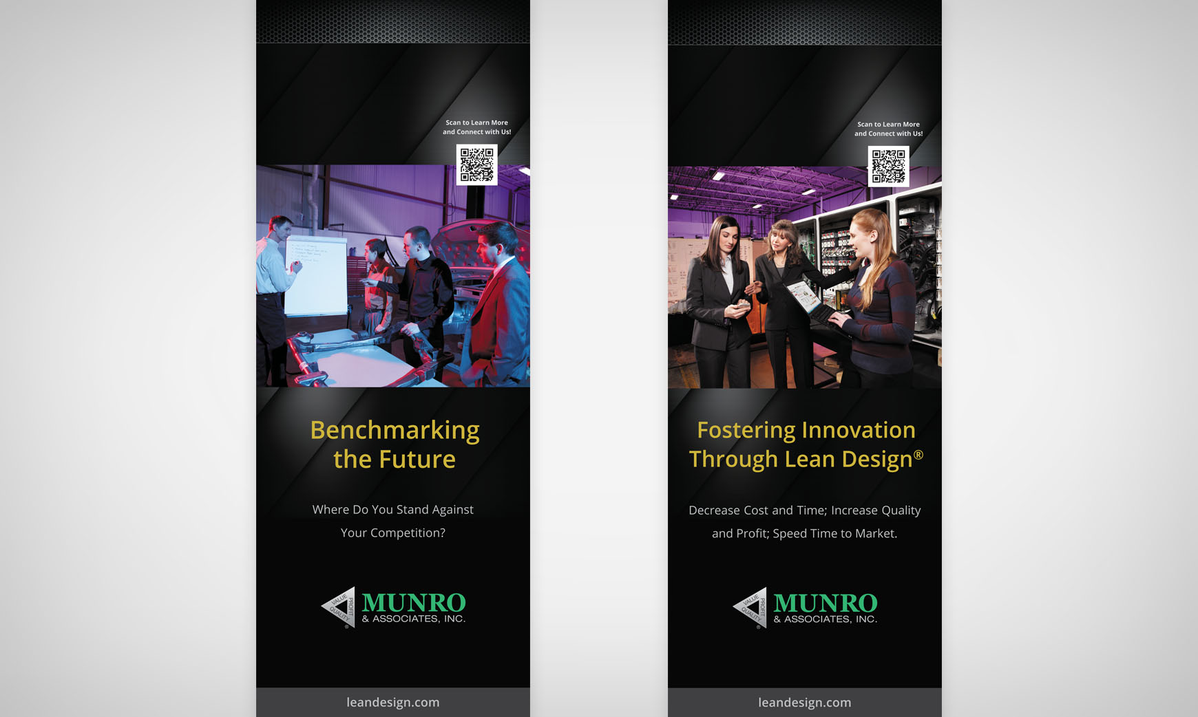 Munro & Associates retractable banners