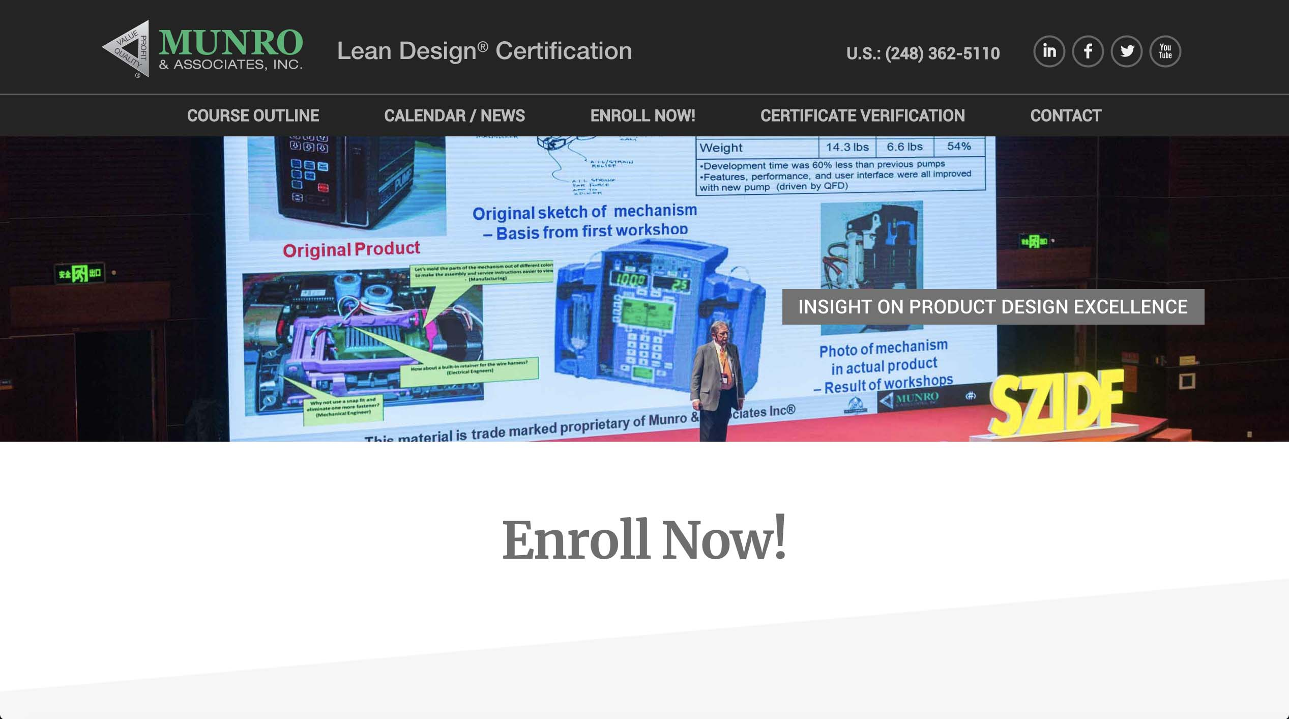 Lean Design Certification site